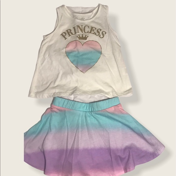 Toddler girl skirt/short set